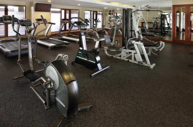 gym with modern equipment